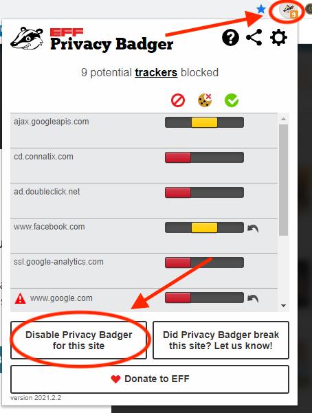 Privacy Badger AdBlocker